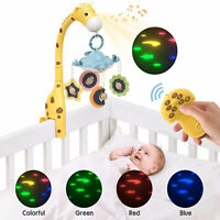 Baby Crib Musical Mobiles Nursery Bed Bell with Lights Hanging Rotating Rattles