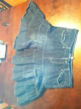 Bubble Gum denim skirt 5/6  juniors women' s A line dark wash pleated pockets