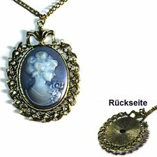 camée Tracht intaille Collier Cameo baroque strass couleur or