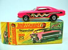 MATCHBOX superfast Nº 70b Dodge Dragster rare jaune foncé BPL. top dans Box