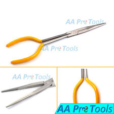 11'' Extra Long Reach Needle Nose Pliers Straight Yellow Dep Repair Hand Tools