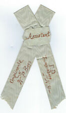 Vintage Ass't Chief Fireman's Ribbon Trumansburg NY Fire Dept Convention1895