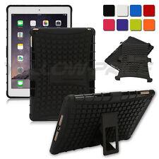 Hybrid Heavy Duty Hard Plastic/Soft Silicone Case w/Stand for iPad Air 2/ iPad 6