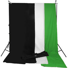 Impact Background System Kit with 10x12' Black, White, Chroma Green Muslins