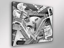 Quadro Moderno ESCHER Relatività cm 60x60 arredamento arte arredo stampa tela