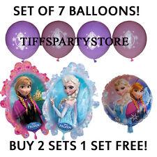 **Set of 7** Elsa/Anna Frozen Balloons Mylar/Latex Jumbo Birthday Party Supplies