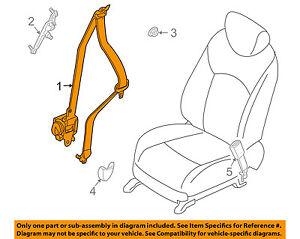 Infiniti NISSAN OEM FX50 Front Seat-Belt & Buckle Retractor Left 868851CA1C