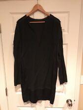 Haider Ackermann Black Silk V-Neck Dress, Size 4 (US) 36 (EU), NEW $2,620