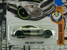 '17 HOT WHEELS ZAMAC FORD SHELBY GT350R NEW IN BOX MUSCLE MANIA SERIES