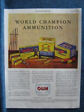 Super-X Western Ammunition~ 1946 Ad ~Hunting ~ 5 Diff Ammo Boxes By Olin Shown