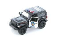 "5"" Kinsmart 2018 Jeep Wrangler Rubicon Police Diecast Model Toy SUV Car 1:34"