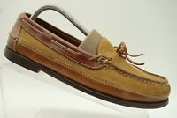 Cole Haan Brown Two Tone Leather Bow Tie Casual Loafer Shoes Mens 9.5 M