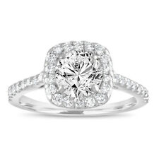 1.58 Carat Diamond Engagement Ring Gia Certified Cushion Cut Ring 18k White Gold