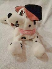 "Dog 101 Dalmatians Jewel pink collar 8"" BeanBag Plush Stuffed Walt Disney puppy"