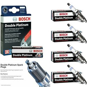 4 pcs Bosch Double Platinum Spark Plugs For 1983-1986 PLYMOUTH HORIZON L4-1.6L