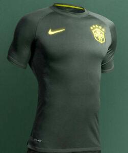 NIKE BRAZIL AUTHENTIC THIRD 3RD JERSEY FIFA WORLD CUP BRASIL 2014 DARK GREEN