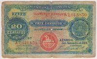 Portuguese Angola 20 Centavos 1914 Banco Ultramarino Rare Type Lourenco Maroues