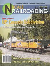 N SCALE RAILROADING 3-4/2011 UP CASCADE ERIE-LACKAWANNA BN AUTO RACK HERZOG MOW