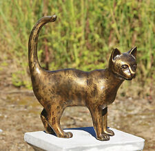 Position Verticale / debout Chat Chats Kater Stubentiger en bronze NEUF ANIMAL