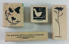 Stampin' Up! OF THE EARTH Ralph Waldo Emerson Quote Bird Silhouette Flower