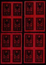 ALBANIA, FULL SET POSTAGE DUE STAMPS 1922 MHN BLOCKS OF 4