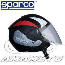 Sparco Riders Casco Moto Demi Jet Taglia M Verde Fluo Opaco