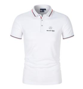 Mercedes-Benz Herren Poloshirt Kontrastkragen Kurzarm Freizeithemd Poloshirt Dyt