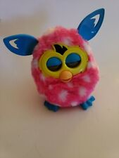 RARE Furby Boom Pink with White Spots and Blue Ears by Hasbro 2012  Works great