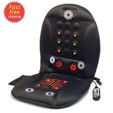 Heated Back Shiatsu Massage Chair Cushion Massager Car Seat Home Pain Lumbar