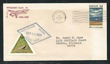 1969 RATTLESNAKE ISLAND Local Post rocket mail cover