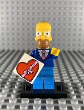 LEGO MINIFIGURES THE SIMPSONS SERIES 2 - HOMER MINIFIGURE W/ BLACK BASEPLATE NEW