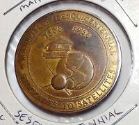 1958 MANSFIELD OHIO SESQUICENTENNIAL 50 CENT TOKEN NICE GRADE  BEAUTY