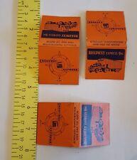 Lot of 3 Vintage Matchbooks ~ 1954 Roadway Express Inc Trucking Company