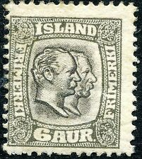 Mint Hinged Postage Icelandic Stamps