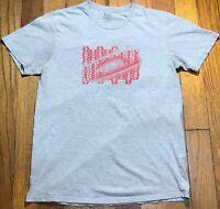 Oakley Mens Medium M Short Sleeve Graphic Gray/Red T-shirt