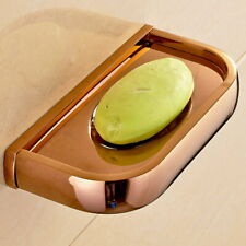 Luxury Rose Gold Wall Mounted Soap Dish Holder Bathroom Accessories