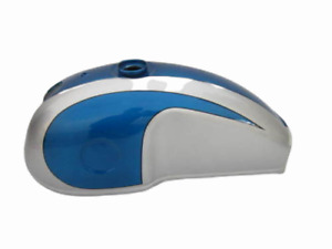 BENELLI MOJAVE CAFE RACER 260 360 BLUE & SILVER PLANE ALUMINUM PETROL TANK