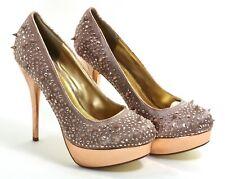 414 Tacón Charol Zapatos Mujer Elegante Remaches Tacones Altos Blink Rosa Paleta