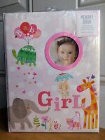 *NEW* CR Gibson Baby Girl Pink Animals Turtle Giraffe Cat Memory Keepsake Book