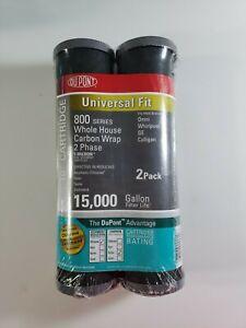 DuPont Water Filter Cartridge 800 Series 2 Pack of Universal Carbon Wrap SEALED