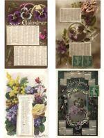 CALENDAR, CALENDARS, MONTHS, 23 Vintage Postcards