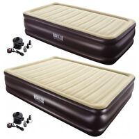 Bestway Pavillo Inflatable Queen / Twin Air bed Camping Gear + Electric Air Pump