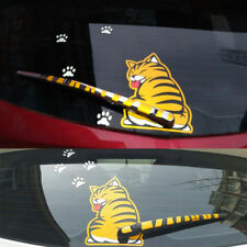 Yellow Cat Paw Tail Windshield Rear Window Wiper Cartoon Car Decal Stickers Hot