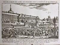 14 Juillet 1789 Prise des Invalides Révolution Française Rare Gravure d'époque