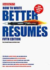 """BARRON'S """"HOW TO WRITE BETTER RESUMES""""-UPDATED 5TH EDITION--NEW  SOFTCOVER"""