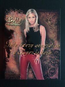 "Vintage Buffy The Vampire Slayer Original Large 10""x8"" Poster Postcard Unused #1"