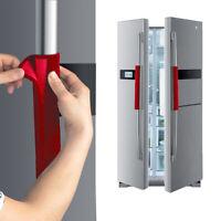 1 Paar Goldsamt Kühlschrank Tuergriffabdeckung Handschuhe Küche Schutzhülle DE