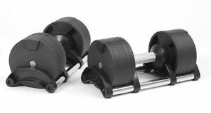 New Pair Of Adjustable Dumbbells 20kg - Sealed, Boxed (total weight 40kg)