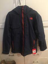 Men's North Face Tri Climate Hoodman Ski Jacket - Navy Blue Size Medium NWT