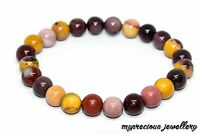 Natural Mookaite Gemstone Bracelet Elasticated Healing Stone Reiki UK